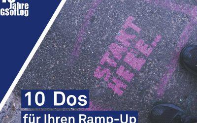 DieZehn: 10 Dos für Ihren Ramp-Up! – Produktion in Zeiten von Corona