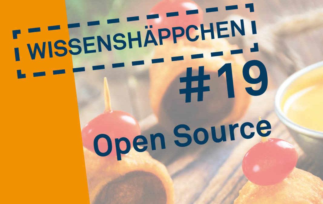 Wissenshäppchen #19: Open Source